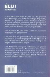 Élu - 4ème de couverture - Format classique