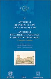 Antitrust between ec law and national law - Couverture - Format classique