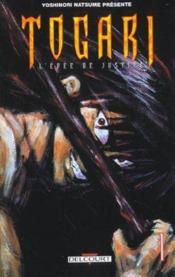 Togari, l'épée de justice t.1 - Couverture - Format classique