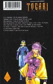 Togari, l'épée de justice t.1 - 4ème de couverture - Format classique