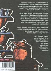 30 recettes pour crimes parfaits - 4ème de couverture - Format classique