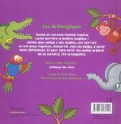 Animaux de la jungle - 4ème de couverture - Format classique