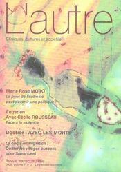 Revue L'Autre N.21 ; Avec Les Morts - Intérieur - Format classique