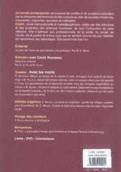 Revue L'Autre N.21 ; Avec Les Morts - 4ème de couverture - Format classique