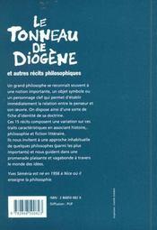Le tonneau de diogene et autres recits philosophiques - 4ème de couverture - Format classique