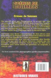 Crimes De Femmes N.7 - 4ème de couverture - Format classique