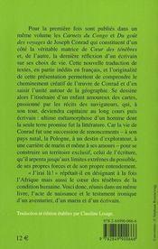 Du goût du voyage ; carnets du Congo - 4ème de couverture - Format classique