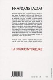 La statue intérieure (2e édition) - 4ème de couverture - Format classique