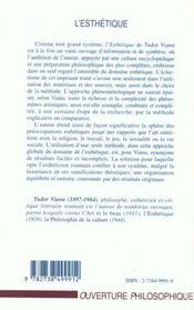 L'Esthetique - 4ème de couverture - Format classique