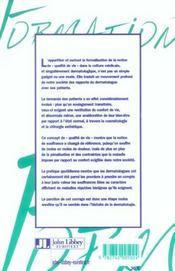 Qualite de vie et dermatologie - 4ème de couverture - Format classique