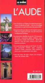 Guide De L'Aude Et Des Pays Cathares - 4ème de couverture - Format classique