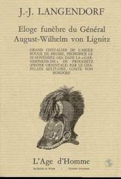 Eloge Funebre Du Gal Von Lignitz - Couverture - Format classique
