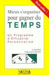 Mieux S'Organiser Pour Gagner Du Temps - Intérieur - Format classique