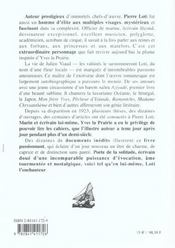 Vrai visage de pierre loti - 4ème de couverture - Format classique