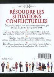 Resoudre Les Situations Conflictuelles - 4ème de couverture - Format classique