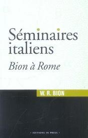 Seminaires Italiens Bion A Rome - Intérieur - Format classique