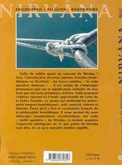 Nirvana - L. De La Vallee Poussin - 4ème de couverture - Format classique