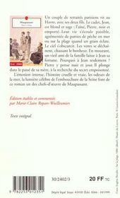 Pierre et jean - 4ème de couverture - Format classique
