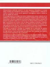 Etat Et Protection Sociale Aux Etats-Unis - 4ème de couverture - Format classique