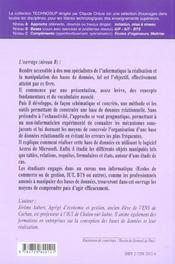 Information De Gestion Base De Donnees Implementation Avec Access - 4ème de couverture - Format classique