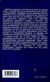 Le Recit Et Les Arts - 4ème de couverture - Format classique