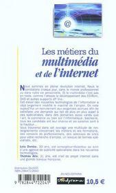 Les metiers du multimedia et de l'internet - 4ème de couverture - Format classique