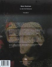 L'Encyclopedie D'Archeologie Sous-Marine T.3 ; Mare Nostrum ; La Mer Des Romains - 4ème de couverture - Format classique
