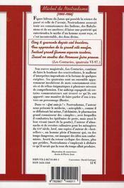 Nostradamus - 4ème de couverture - Format classique