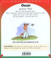 Oscar Prepare Noel - 4ème de couverture - Format classique