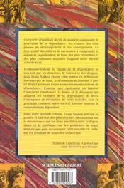 Caractere Dependant - Pour Mieux Comprendre La Dynamique De La Dependance - 4ème de couverture - Format classique