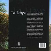 La Libye ; Sur Les Traces Des Garamantes... - 4ème de couverture - Format classique