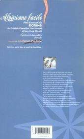 Alpinisme facile dans le massif des Ecrins - 4ème de couverture - Format classique