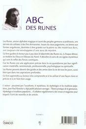 L'Abc Des Runes - 4ème de couverture - Format classique