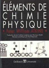 Elements de chimie physique - Intérieur - Format classique