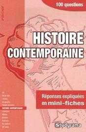 Histoire contemporaine - Intérieur - Format classique