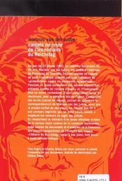 Carnets De Route De L'Incendiaire Du Reichstag - 4ème de couverture - Format classique