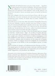 Nathalie De Serbie La Reine Errante - 4ème de couverture - Format classique