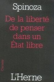 De la liberté de penser dans un état libre - Intérieur - Format classique