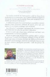 Tutoyer Le Savoir ; Une Economie Solidaire De La Societe De L'Information Et De La Connaissance - 4ème de couverture - Format classique