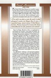 Hamsun - 4ème de couverture - Format classique