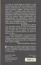 La Section Doree - 4ème de couverture - Format classique