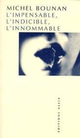 L'impensable, l'indicible, l'innommable - Couverture - Format classique