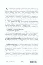 Maîtriser les prises de parole officielles ou politiques ; élaboration, rédaction, transmission - 4ème de couverture - Format classique