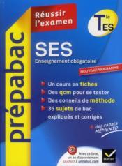 Sciences economiques et sociales ; terminale ES