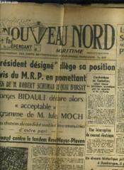 Le Nouveau Nord Maritime N°912 - 5eme Annee - Vendredi 15 Ocotbre 1949. - Couverture - Format classique