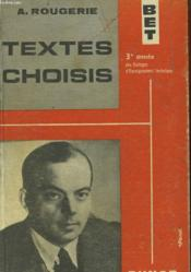Textes Choisis - Couverture - Format classique