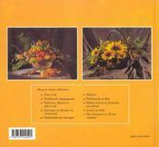 Bouquets au fil des saisons - 4ème de couverture - Format classique