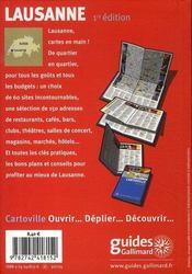 Lausanne - 4ème de couverture - Format classique