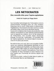 Les Netocrates ; Une Nouvelle Elite Et La Vie Apres Le Capitalisme - 4ème de couverture - Format classique