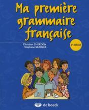 Ma première grammaire française (2e édition) - Couverture - Format classique